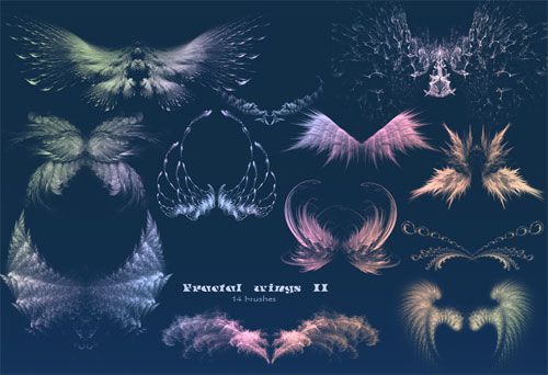 fractal wings photoshop brushes