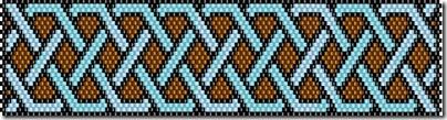 мозаичное плетение бисером схема beadpattern