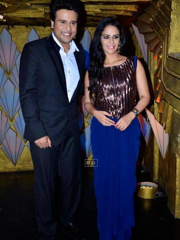 Krushna Abhishek and Mona Singh on the sets of Entertainment Ke Liye Kuch Bhi Karega, in Mumbai. (Pic: Viral Bhayani)