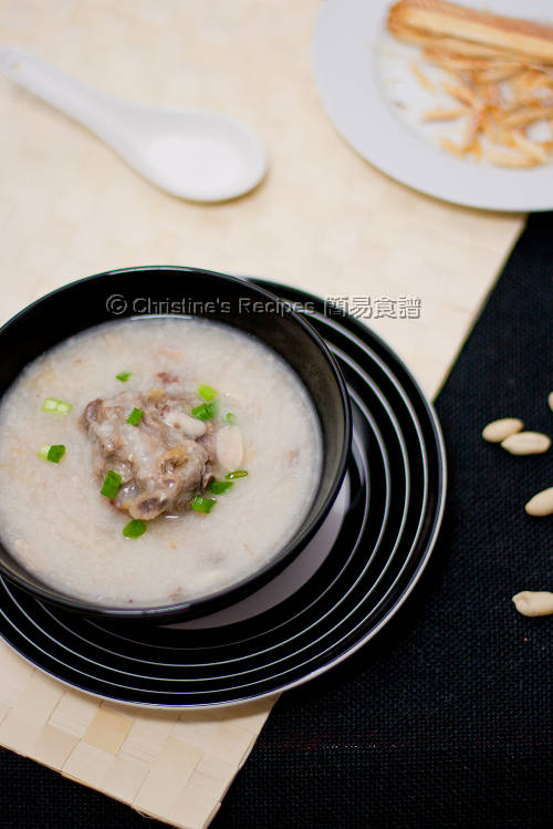 柴魚花生豬骨粥 Dried Stockfish, Pork Bones and Peanut Congee01