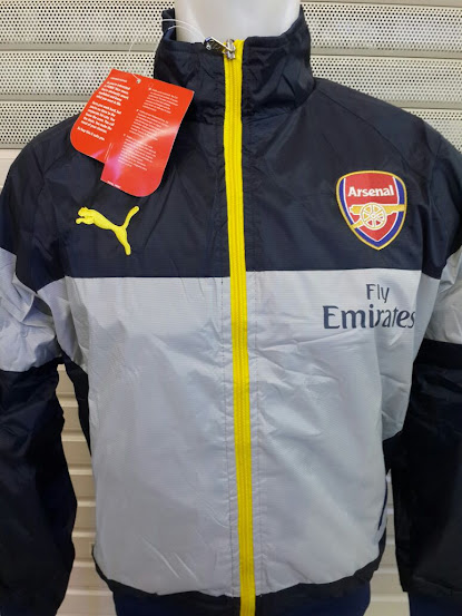 Jual Jaket Parasut Arsenal Puma Abu-Abu 2014-2015
