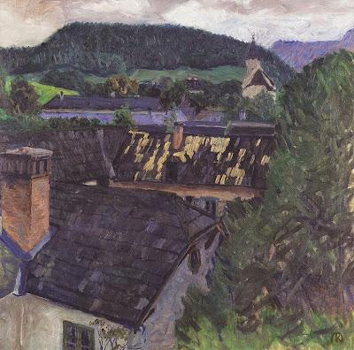 Koloman Moser - Blick auf Payerbach - 1908