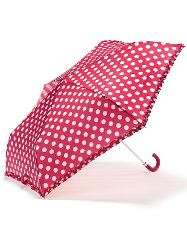 Accessorize Pink Polka Dot Umbrella