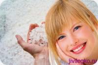 Методы отбеливания зубов солью