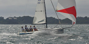 J/70 one-design sailboat- sailing in New York YC qualifiers