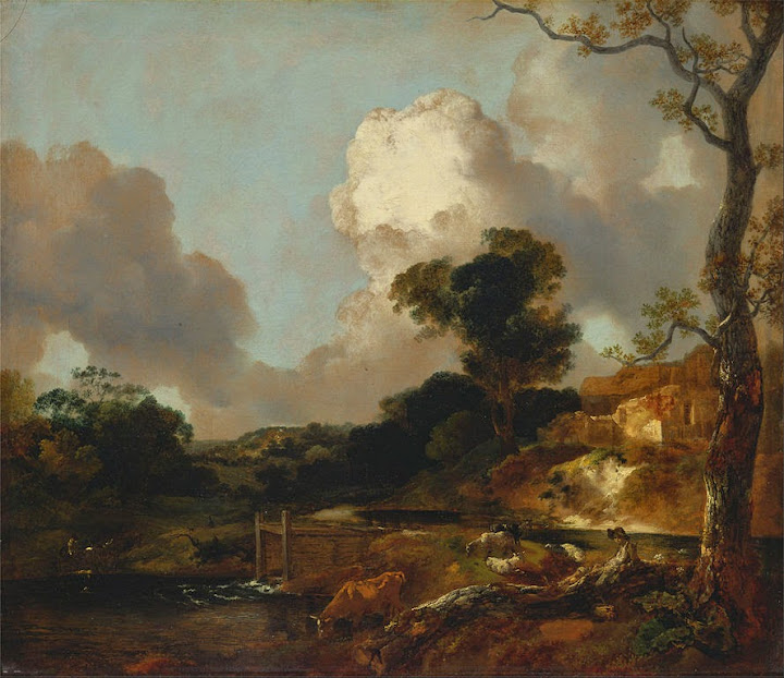 Thomas Gainsborough - Landscape with Stream and Weir