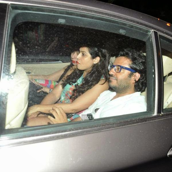 Queen director Vikas Bahl leaves after attending Karan Johar's party, organised at his residence, on July 26, 2014.(Pic: Viral Bhayani)