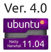 Imagen de un sticker de Ubuntu 11.04
