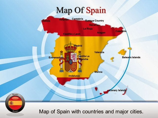 PowerPoint Map Of Spain