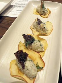 Feast Portland 2013 Day 1 Recap Paley's Pre Funk, appetizers by Chef Ben: smoked trout salad, horseradish, apple chip