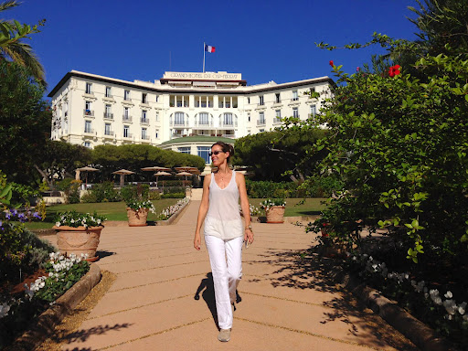 Marcia DeSanctis in Cap Ferrat. From 100 Places in France Every Woman Should Go