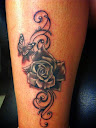 Butterfly and Rose Tattoo Ideas 7