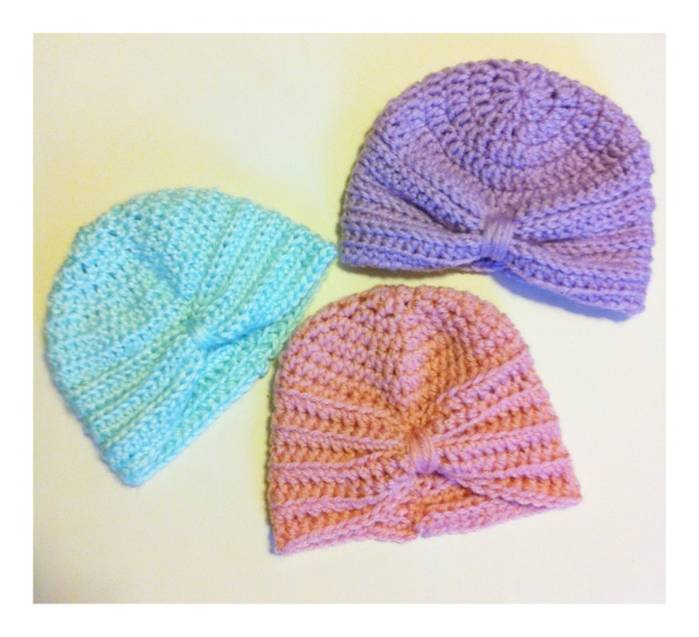 Free Crochet Pattern Baby Turban : kozy & co: Crochet Baby Turban Pattern
