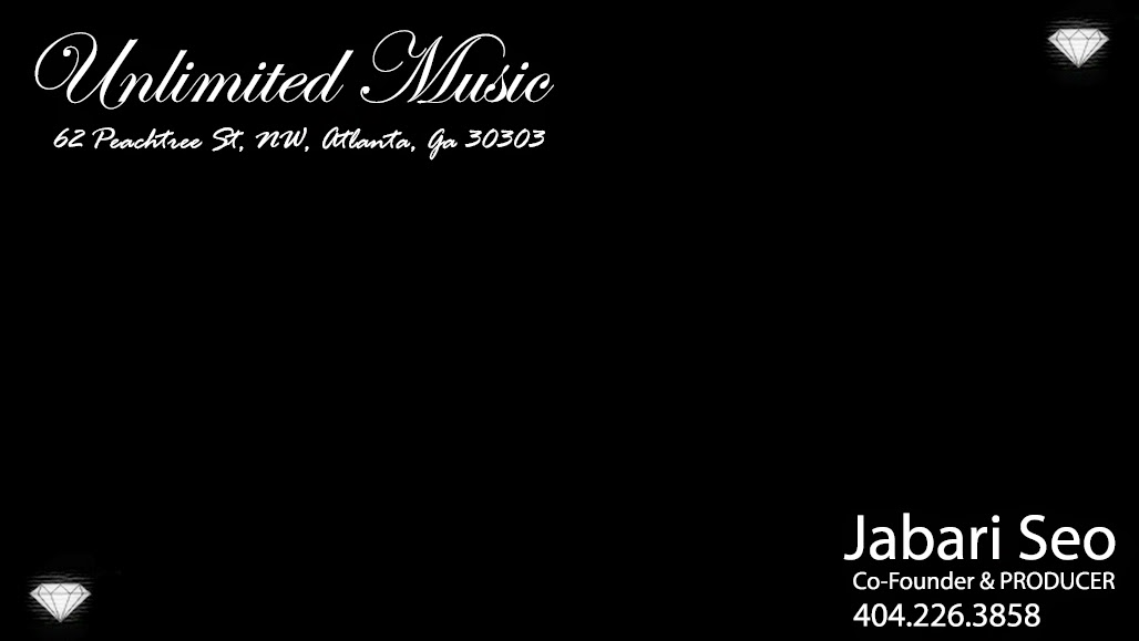 Unlimited Music Atlanta - Business Card - #Jabarian - Front