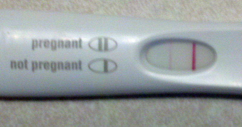 Blurred Positive Pregnancy Test - Pregnancy Symptoms