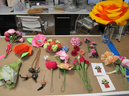 a round up of the many various faux flowers we have made on the show