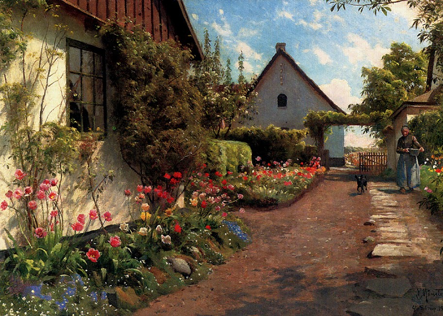 Peder Mork Monsted - In The Garden, 1937