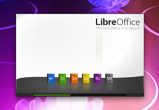 Splash screen LibreOffice hasil modifikasi