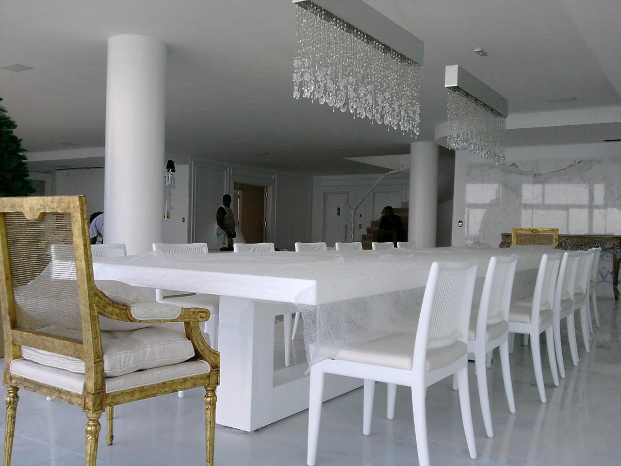 Sala De Jantar Branca De Luxo ~ Blog Decoração de Interiores Cadeira e Mesa sob Encomenda