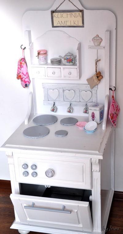 Lawendowy Kredens Kuchenka dla dzieci  -> Drewniana Kuchnia Dla Dzieci Jak Zrobic