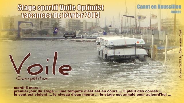 Stage voile Optimist Canet-en-Roussillon