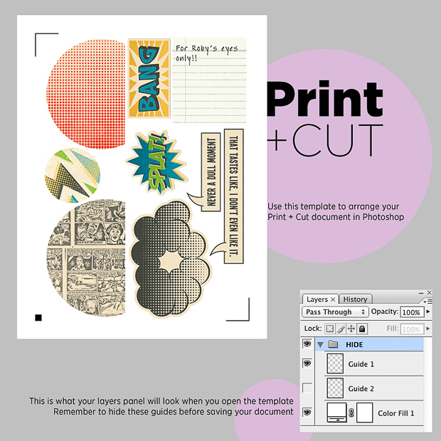 Print & Cut Tutorial // Silhouette Tips & Tricks // Download // Free Template