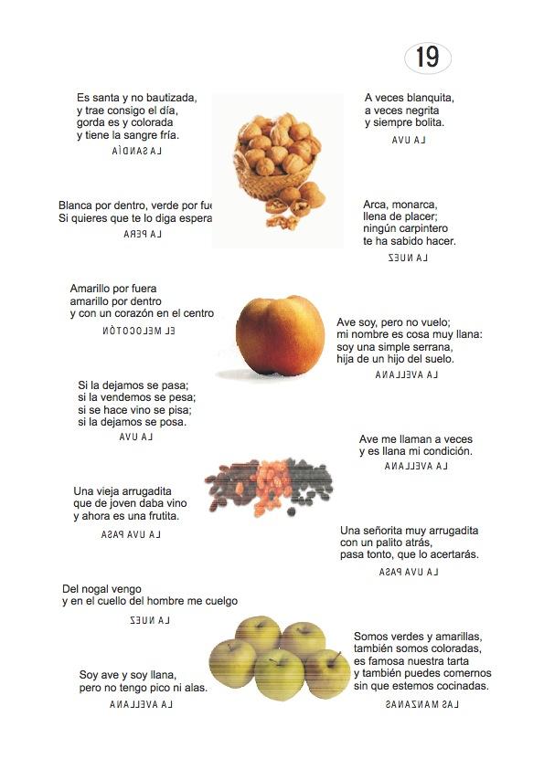 Los duendes y hadas de Ludi: Adivinanzas de frutas ...