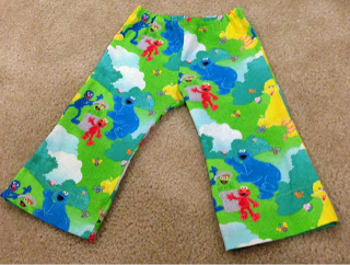Some sesame street pants that I made for my son's birthday