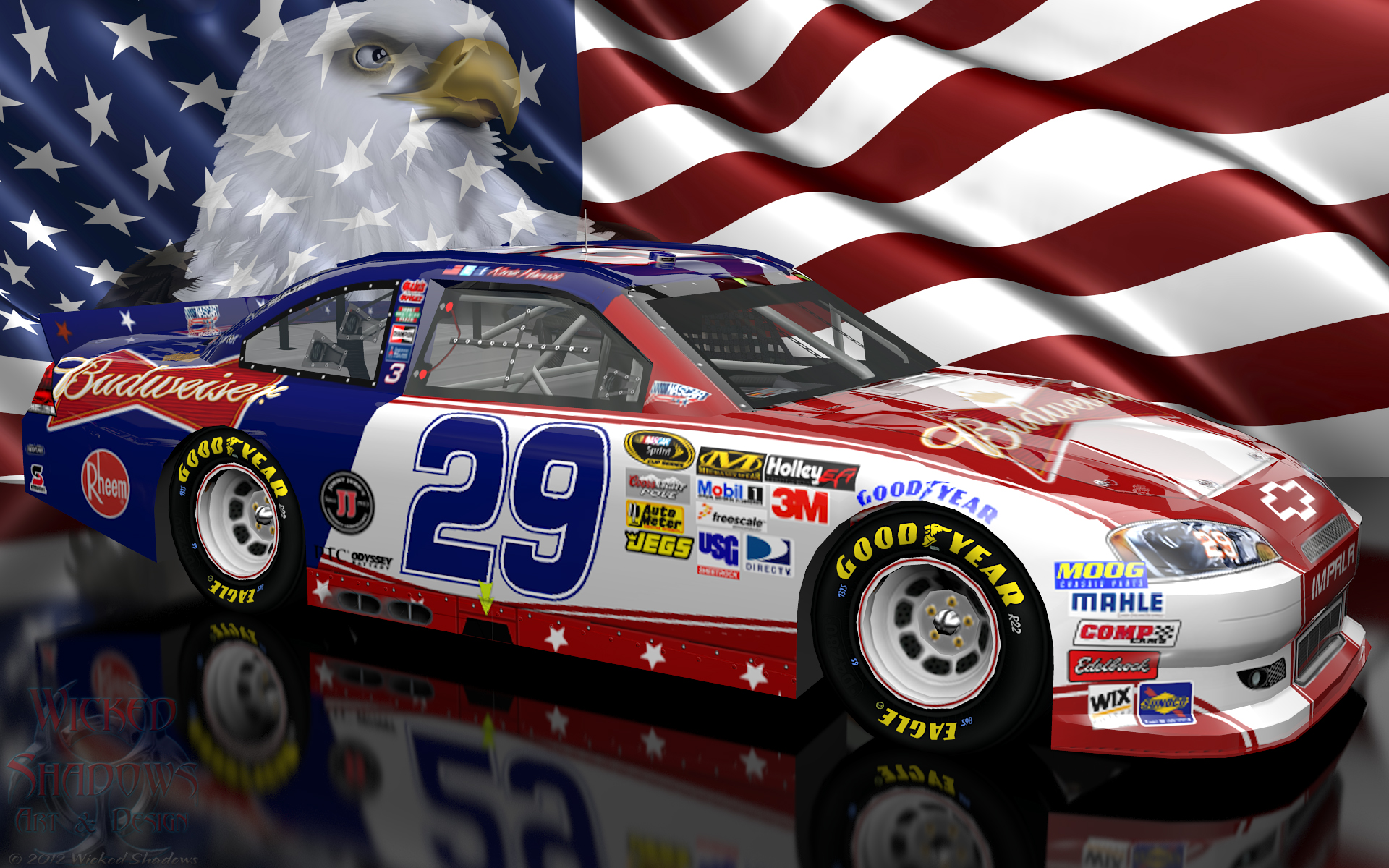 Wallpapers By Wicked Shadows: Kevin Harvick NASCAR Unites ...