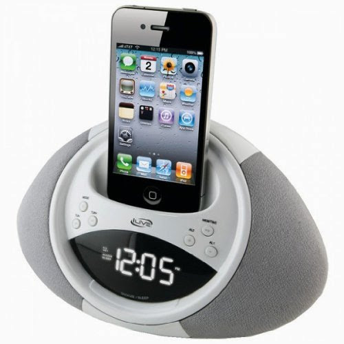 ILIVE iCP122W iPhone(R)/iPod(R) Clock Radio