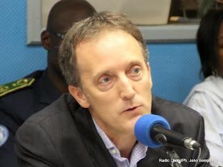 Scott Campbellle,  le Haut-commissaire des Nations unies aux droits de l'homme le 05/03/2014 à Kinshasa, lors de la publication du rapport de nations unies sur l'abus de droit de l'homme à l'Est de la RDC. Radio Okapi/Ph. John Bompengo