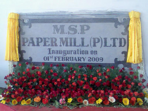 MSP Paper Mill Private Limited, Pillanatham Po, 4/81, Tiruchengode