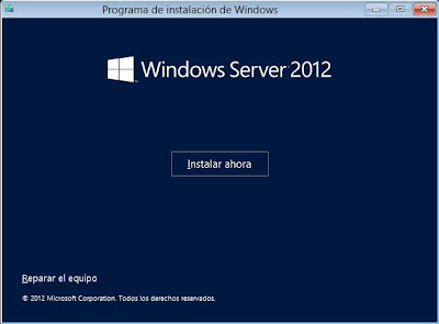 Instalar Microsoft Windows Server 2012 Datacenter x64