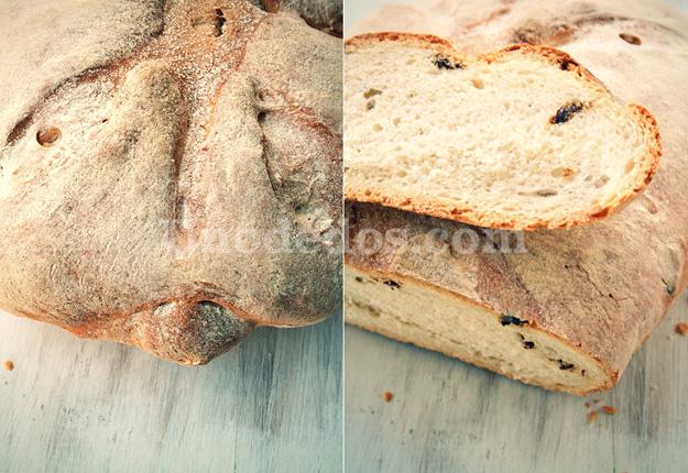 Pan de tomates deshidratados