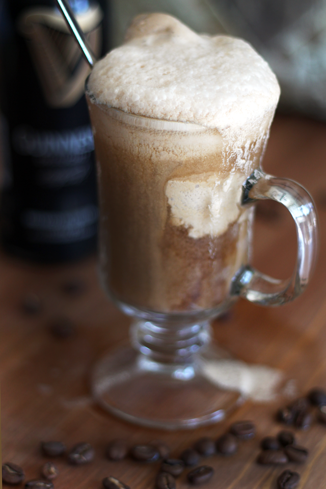 Guinness Float with Dairy-Free Coffee Ice Cream from dontmissdairy.com