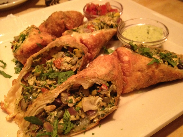 Tex Mex Egg Roll at the Cheesecake Factory Dubai Mall