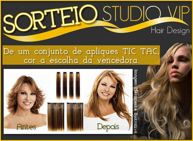 Sorteio Studio Vip Hair Design
