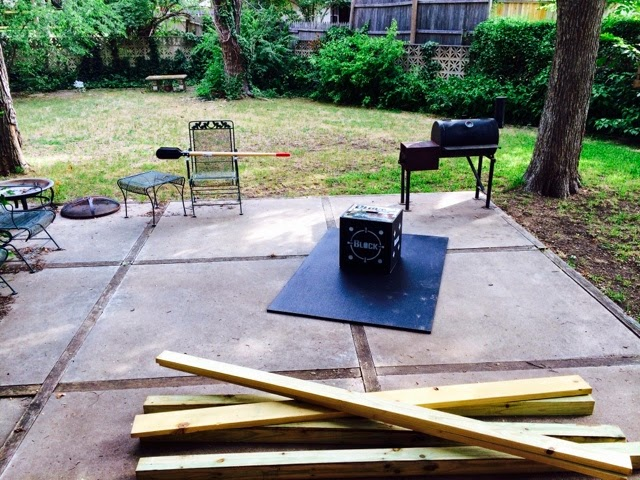Setting Up Backyard Archery Range : Frank Is Going To Build A 20 Yard Archery Range In The Back Yard