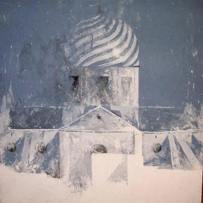 Ana Hernández Morote,Pintora,Pintura de Ana Hernández Morote,Pintura Cúpula en azules