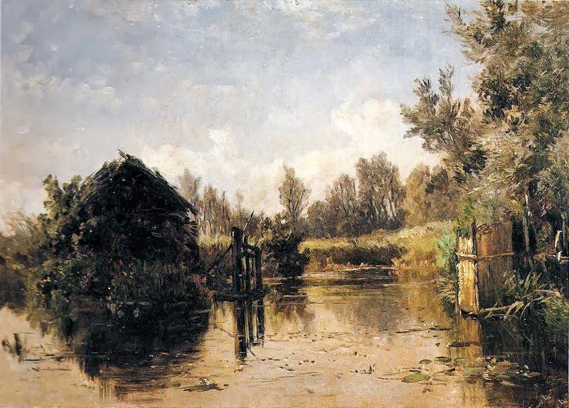 Carlos de Haes - Canal abandonado, Vriesland (Holanda)