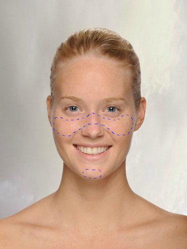 Onde passar maquiagem para deixar o rosto corado