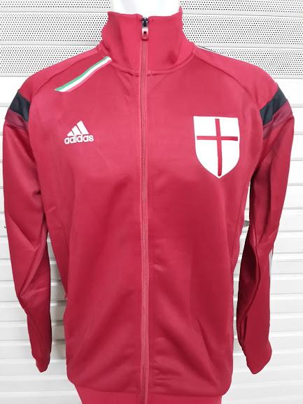 Jaket AC Milan Home Track Top Merah List Putih 2014-2015