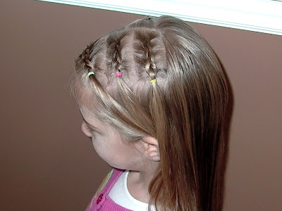 Little Girl's Hairstyles: Mini French or Dutch Braids