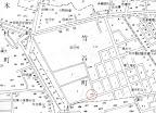 昭和8(1933)年東京市麻布区地積図の高尾稲荷神社