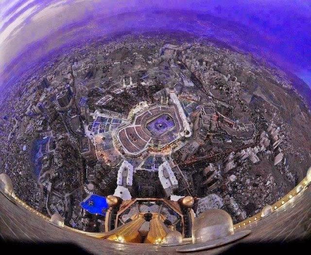 Rare Makkah Madina Photo Collection Sky View