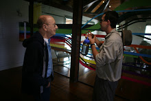 Visita y recorrido del escritor e historiador Teodoro Vidal a las facilidades de La Hacienda La Esperanza.