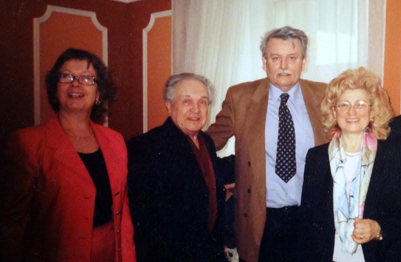 Ольга и Александр Зиновьевы с Бориславом и Миланкой Милошевичами