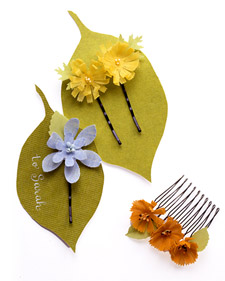 These barrettes would make a great party favor, or group activity- they are quick, and the supplies are so inexpensive
