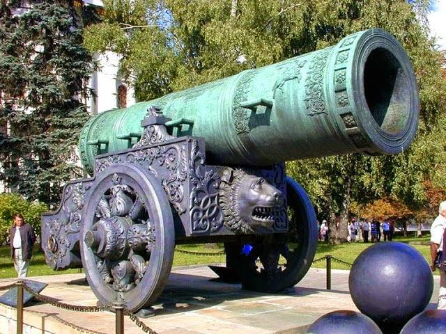 O grande Canhão do Czar atualmente. Fotografia: autor desconhecido.