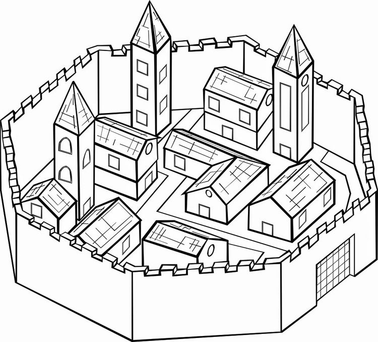 Winterfell coloring pages
